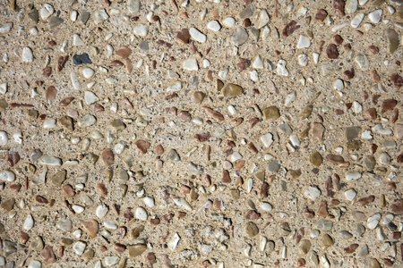 Detail of the small pebbles roughcast