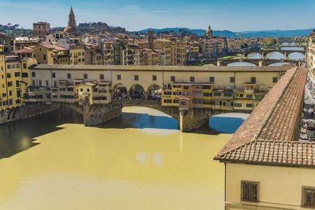 View at Bridge Ponte Vecchio in Florence, Italy