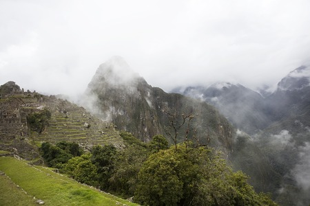 View at Machu Picchu Inca ruins in Peru 版權商用圖片