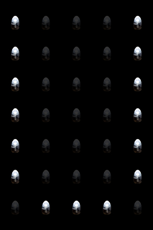 Closeup of the bright led light letter U Stock fotó - 102633660