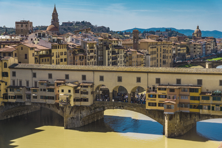 View at Bridge Ponte Vecchio in Florence, Italy