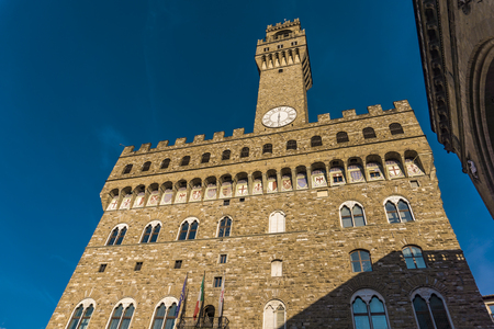 Detail of Palazzo Vecchio in Florence, Italy 写真素材