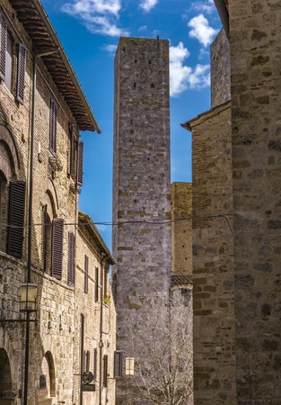 View at old town of San Gimignano in Tuscany, Italy