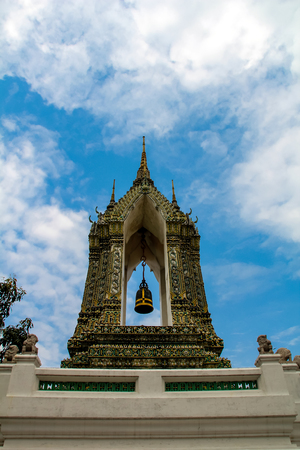 Wat Pho (Temple of the Reclining Buddha) in Bangkok Stock Photo