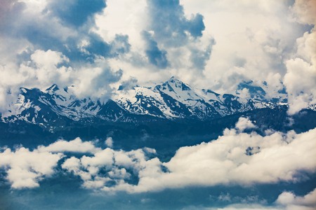 Alpine panorama from Rigi Kulm, canton Schwyz, central Switzerland