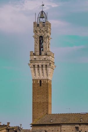 Torre del Mangia in Siena, Tuscany, Italy Stock Photo