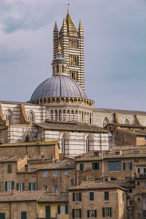 Picturesque view of Siena cathedral by day 写真素材