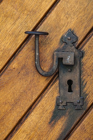 Closeup detail from the old wooden door