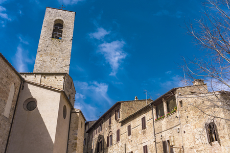View at old town of San Gimignano in Tuscany, Italy.