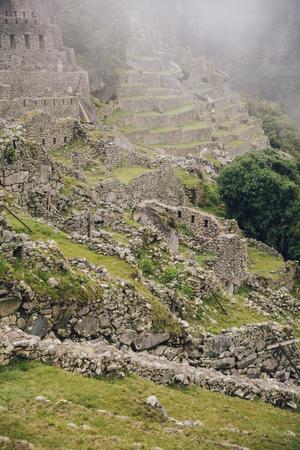 View at Machu Picchu Inca ruins in Peru 写真素材