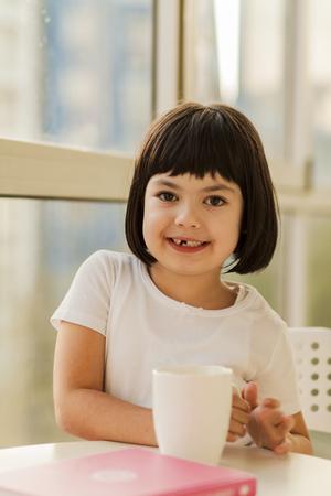 Portrait of black hair little girl