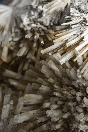 Closeup view at the zeolite scolecite mineral 版權商用圖片