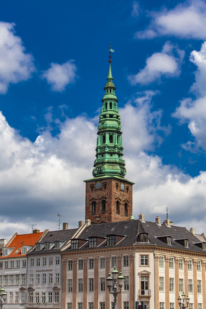 View at tower of Nikolaj Church in Copenhagen, Denmark