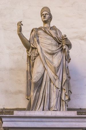 Statue Sabine with the portrait of Matidia from 2nd century in Loggia dei Lanzi in Florence, Italy