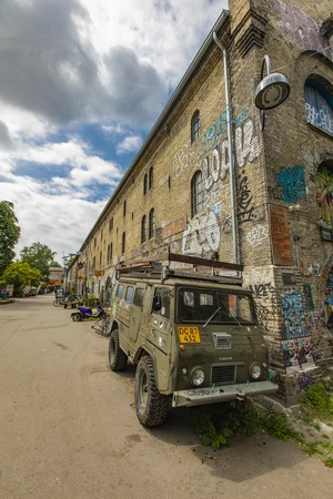 COPENHAGEN, DENMARK - JUNE 14, 2018: Detail from Freetown Christiania in Copenhagen, Denmark. Christiania is a self-proclaimed autonomous anarchist district founded at 1971. Stock Photo - 103345109