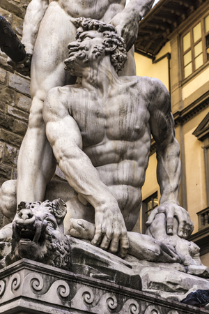 Statue Hercules and Cacus made by Bandinelli at 1534 at Piazza del Signoria in Florence