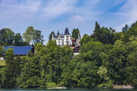 View at Town Hertenstein on Lucerne lake, Switzerland