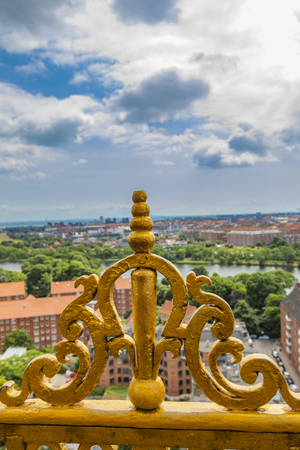 Aerial view at Copenhagen, Denmark from Church of Our Saviour 版權商用圖片