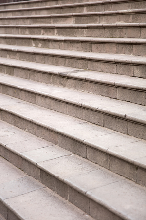 Closeup detail of an empty stony staircase