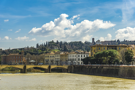 View at Arno river in Florence, Italy
