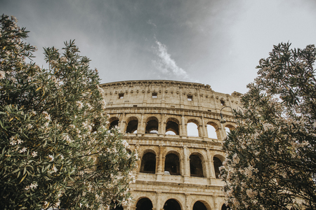 View at antique Colosseum in Rome, Italy Banco de Imagens