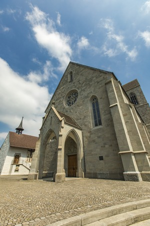 View at Saint John parish church (Stadtpfarrkirche Rapperswil) in Rapperswil, Switzerland