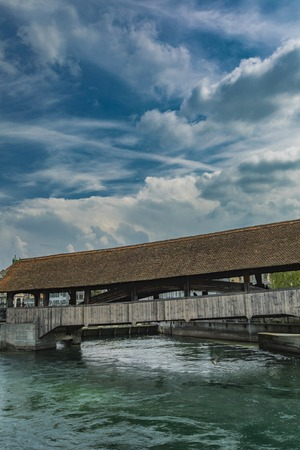 Historic city center of Lucerne with famous Chapel Bridge, Canton of Lucerne, Switzerland