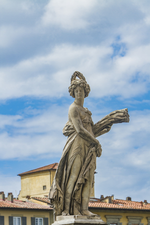 Statua della Estate by Giovanni Caccini from 1608 at Ponte Santa Trinita in Florence, Italy
