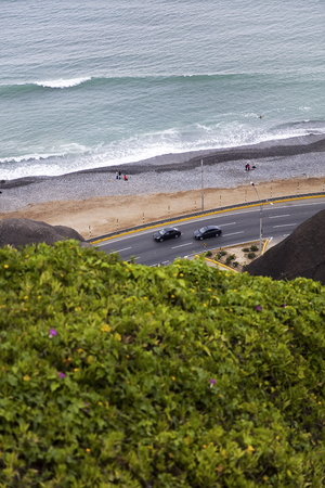 View at Pan-American Highway at Miraflores District in Lima, Peru Banco de Imagens - 104726240