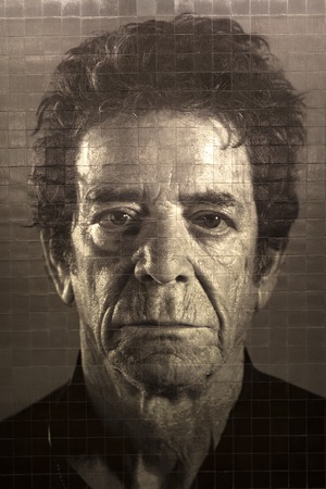 NEW YORK, USA - AUGUST 27, 2017: Lou Reed mural in New York 86th Street subway station. Mosaic of great musician was made by Chuck Close as part of Second Avenue subway art project. Editorial