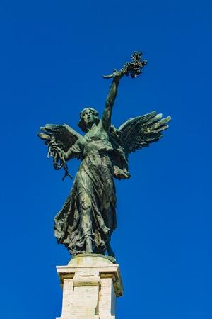 Angel statue on Ponte Vittorio Emanuele II bridge in Rome, Italy