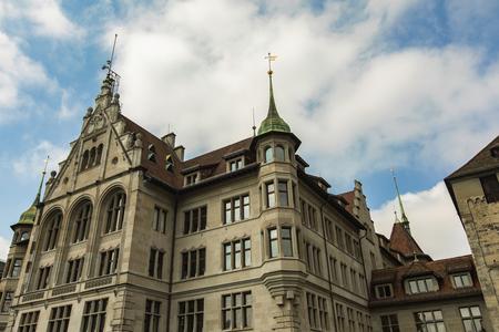Detail of the Zurich city hall in Switzerland