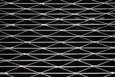 Closeup detail of the metallic frame backdrop