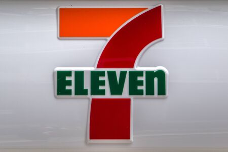 KYOTO, JAPAN - OCTOBER 11, 2016: Detail of 7-Eleven store in Kyoto, Japan. It is a American international chain of convenience stores founded at 1927. Redactioneel