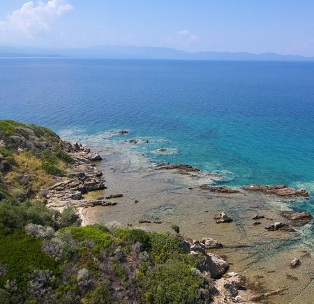 Aerial view at Nea Roda at Chalkidiki, Greece Stock Photo - 106065759