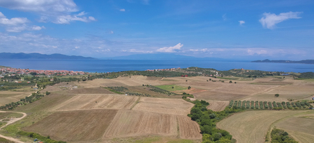 Aerial view at Tripiti at Athos, Chalkidiki, Greece