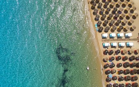 Aerial view at beach at Nea Roda at Chalkidiki, Greece Stock Photo
