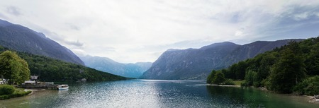 View at the Bohinj lake in Slovenia Imagens - 107420215