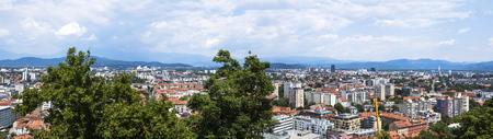 View at skyline of Ljubljana, Slovenia