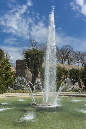 View at Fontana di San Prospero in Siena, Italy Фото со стока