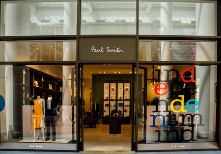 NEW YORK, USA - MAY 2, 2013: Detail of Paul Smith store in New York. It is British fashion company founded at 1970. Éditoriale