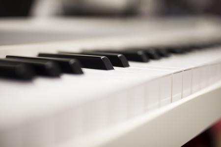 Close up view at piano keyboard Foto de archivo - 107995567