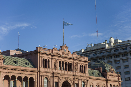 View at Casa Rosada, office of the President of Argentina, in Buenos Aires