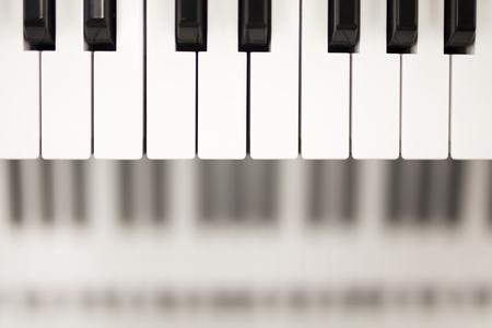 Close up view at piano keyboard Foto de archivo - 108291986