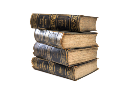 Group of vintage books isolated on the white background Banque d'images - 108190043