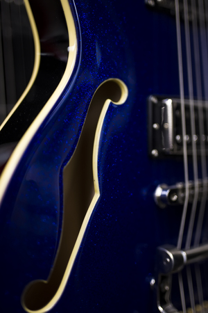 Close up detail of the electric guitar 写真素材