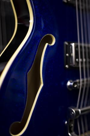 Close up detail of the electric guitar 版權商用圖片