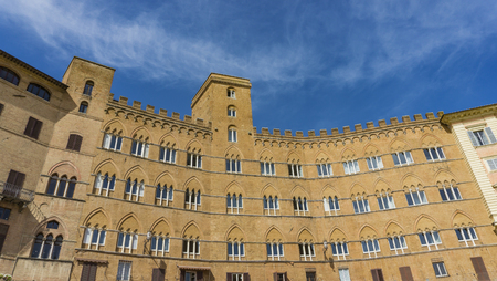 Detail from the Piazza Del Campo In Siena, Italy