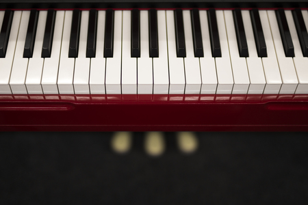 Close up detail of the piano keyboard Stock fotó
