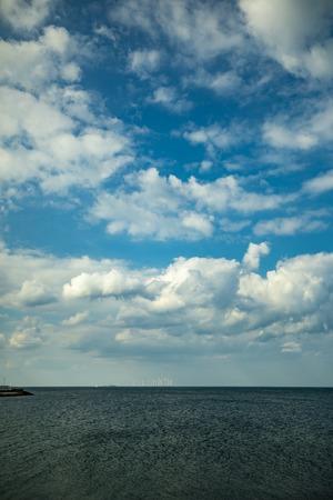 Baltic sea horizon by day